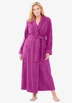 Dreams /& Co Womens Plus Size Terry Towel Wrap