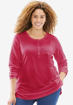 Perfect Long Sleeve Henley Tee,