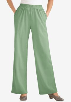 7-Day Knit Wide Leg Pant, SAGE