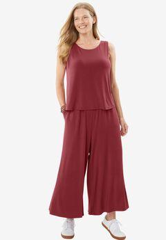 Popover Jumpsuit, RUBY WINE, hi-res