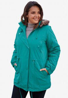 Taslon® Anorak Coat,