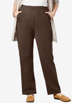 Wide-Leg Relaxed Knit Pant,