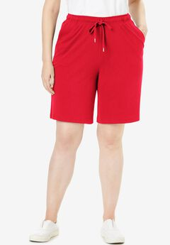 Sport Knit Short, VIVID RED