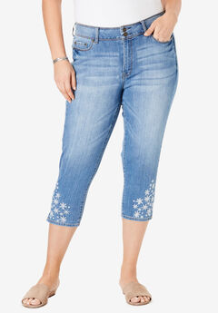 a02424ca0b6 High-Rise Embroidered Cropped Skinny Jean by Chelsea Studio®