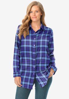 Classic Flannel Shirt, ULTRA BLUE PLAID