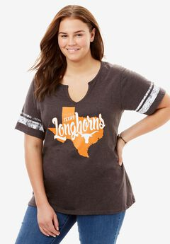 NCAA Front Graphic Notch-Neck Tee,