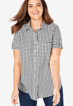 c842de6201bf2 Short Sleeve Button Down Seersucker Shirt