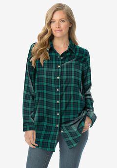 Classic Flannel Shirt, RICH JADE PLAID