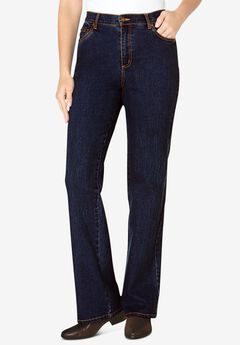 Bootcut Stretch Jean, DARK INDIGO