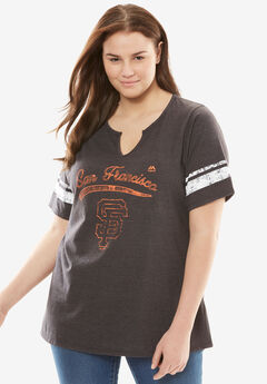 MLB Team Notch-Neck Tee, GIANTS