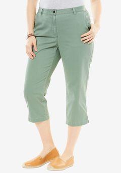Summer capri pants, DUSTY JADE, hi-res