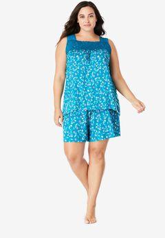 Lace-Trim Short Pajama Set by Dreams & Co.®,