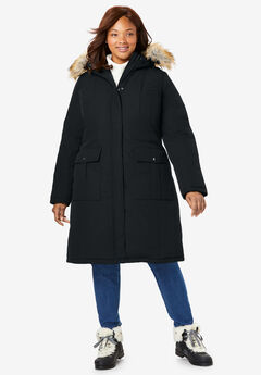 The Arctic Parka™ in Knee Length, BLACK