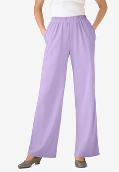 7-Day Knit Wide Leg Pant, SOFT IRIS
