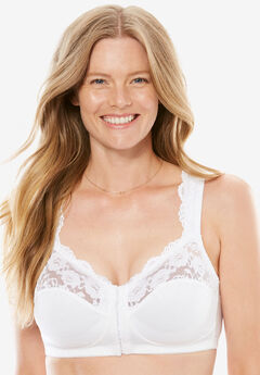 Front Hook Wireless Gel Strap Bra by Comfort Choice®,
