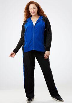 Woven Track Suit, BLACK DARK SAPPHIRE, hi-res
