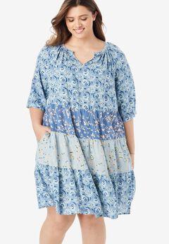 Tiered Trapeze Dress,