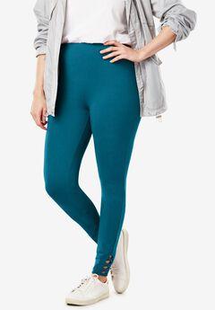 Stretch Cotton Lace-Up Legging,