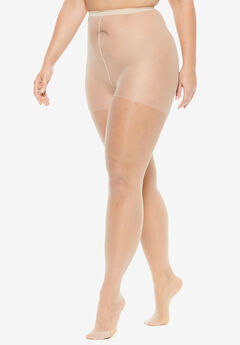 2-Pack Sheer Tights by Comfort Choice®, NUDE, hi-res