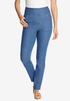 Pull-On Skinny Jean, LIGHT STONEWASH