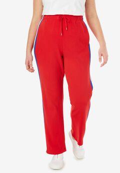 Side-Stripe Sport Knit Pants, , hi-res