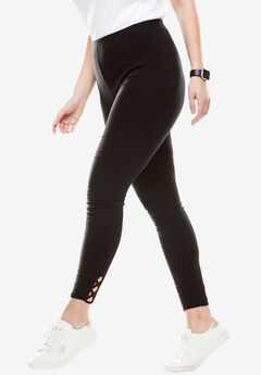 Stretch Cotton Lace-Up Legging,