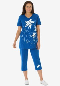 Starfish Tunic and Capri Set,