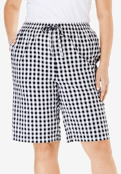 Seersucker Short, BLACK GINGHAM, hi-res