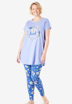 Graphic Tunic PJ Set, TRUE BLUE KIND