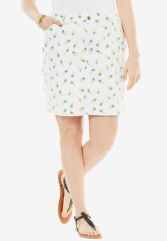 Seaside Collection Printed Summer Skort, MINI PINEAPPLE, hi-res