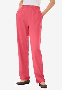 7-Day Knit Straight Leg Pant, ROSE PINK