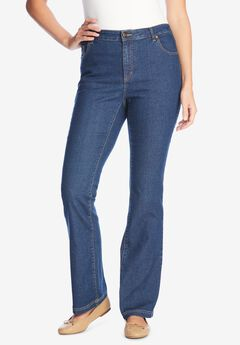 Bootcut Stretch Jean, MEDIUM STONEWASH