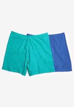 2-Pack Cotton Fitted Boxer Boyshort by Comfort Choice®,