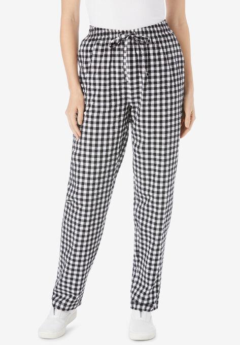 Seersucker Pant Plus Sizepants Woman Within