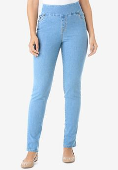 Smooth Waist Skinny Jean, LIGHT STONEWASH
