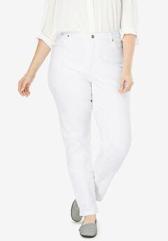 Perfect Straight Leg Jean, WHITE