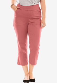 Smooth Waist Capri Jean, STRAWBERRY ROSE