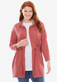 Swing Jacket, HEATHER STRAWBERRY ROSE, hi-res