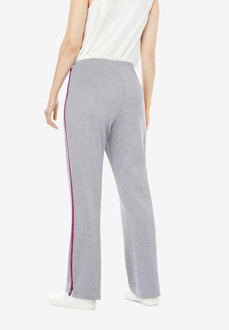 26b00dc1e9dac Stretch Cotton Side-Stripe Bootcut Yoga Pant
