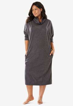 Cowl Neck Fleece Lounger,