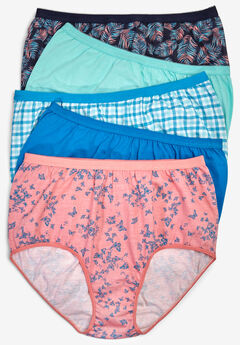 22c954afa 5-Pack Pure Cotton Full-Cut Brief by Comfort Choice®