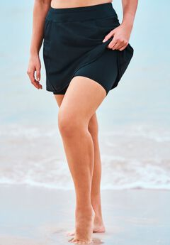 Zip-Pocket Swim Skort,