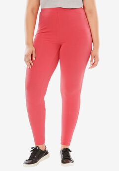 Stretch Cotton Legging, CORAL RED, hi-res