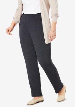 7-Day Knit Slim-Leg Pant, HEATHER CHARCOAL
