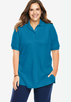 Short Sleeve Polo Tee, RIVER BLUE