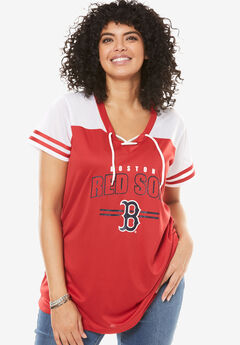 MLB Team Lace-Up Tee, RED SOX