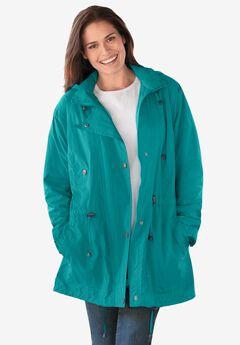 Fleece-Lined Taslon® Anorak, WATERFALL