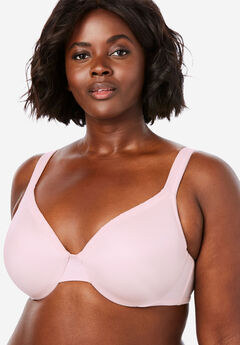 Lace Trim Microfiber T-Shirt Bra by Comfort Choice®,