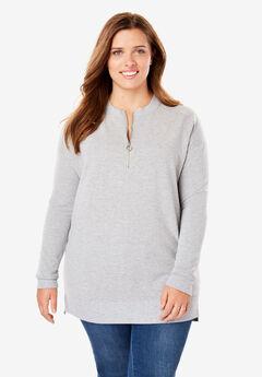 Quarter-Zip Crewneck Sweatshirt,