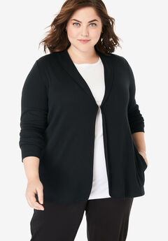 7-Day Knit Jacket, BLACK, hi-res